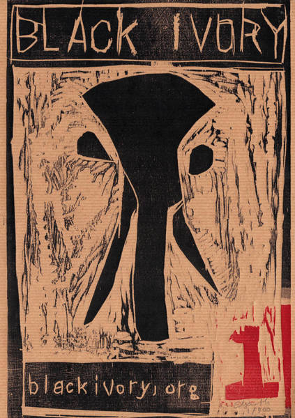 Relief - Black Ivory Issue 1 Woodcut by Artist Dot