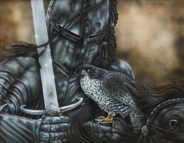 North Dakota Painting - Black Knight by Wayne Pruse