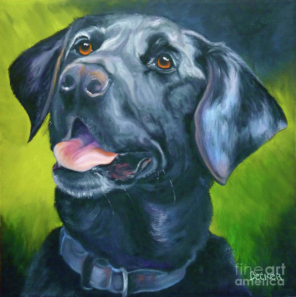 Wall Art - Painting - Black Lab Forever by Susan A Becker
