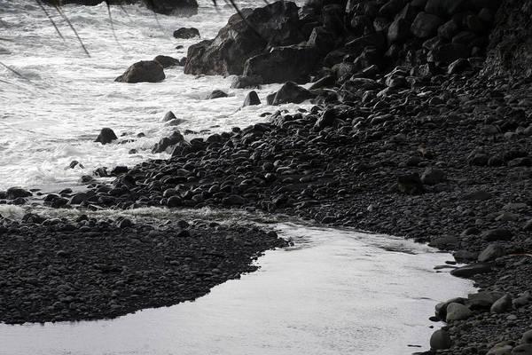 Photograph - Black Lava Beach, Maui by Kenneth Campbell