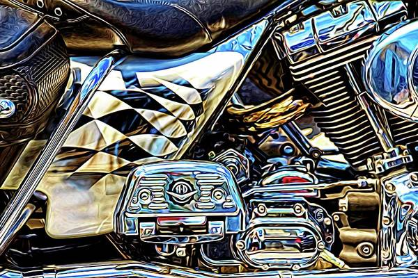 Daytona Bike Week Wall Art - Photograph - Black Leather by Alice Gipson