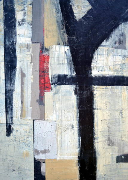 Painting - Black Lines Abstract 2.0 by Michelle Calkins