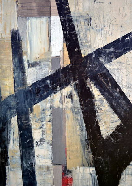 Painting - Black Lines Abstract 4.0 by Michelle Calkins