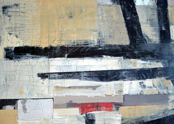 Painting - Black Lines Abstract by Michelle Calkins