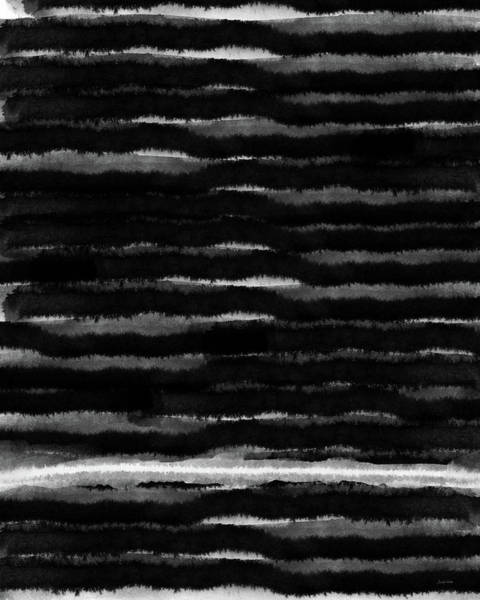 Painting - Black Lines- Art By Linda Woods by Linda Woods