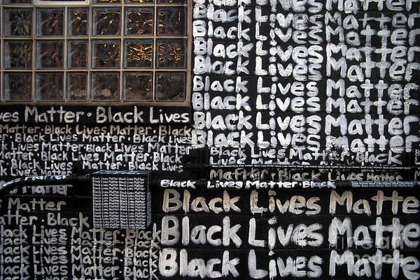 Black Lives Matter Wall Part 1 Of 9 Art Print