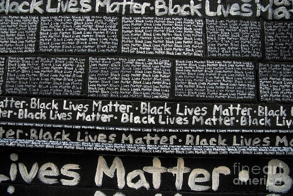 Photograph - Black Lives Matter Wall Part 4 Of 9 by Walter Neal