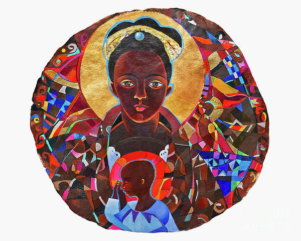 Painting - Black Madonna Mandala - Mmbmm by Br Mickey McGrath OSFS