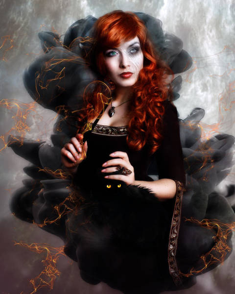 Black Magic Woman Wall Art - Digital Art - Black Magic by Karen Koski