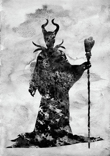 Maleficent Digital Art - Maleficent-black by Erzebet S