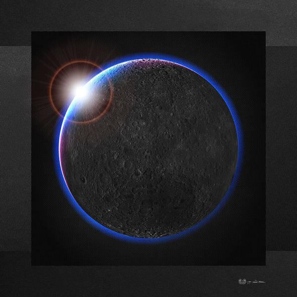 Digital Art - Black Moon - The Dark Side Of The Moon  by Serge Averbukh