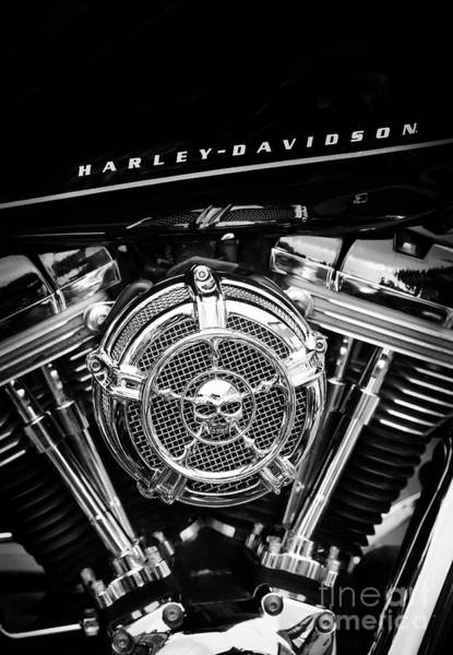 Harley Davidson Black And White Wall Art - Photograph - Black N Chrome Hd by Tim Gainey