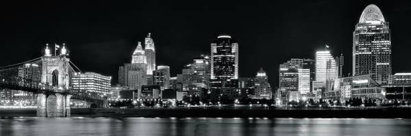 Wall Art - Photograph - Black Night Cinci Pano by Frozen in Time Fine Art Photography