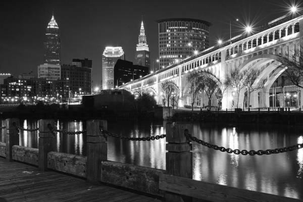 Metro Detroit Photograph - Black Night In Cleveland by Frozen in Time Fine Art Photography