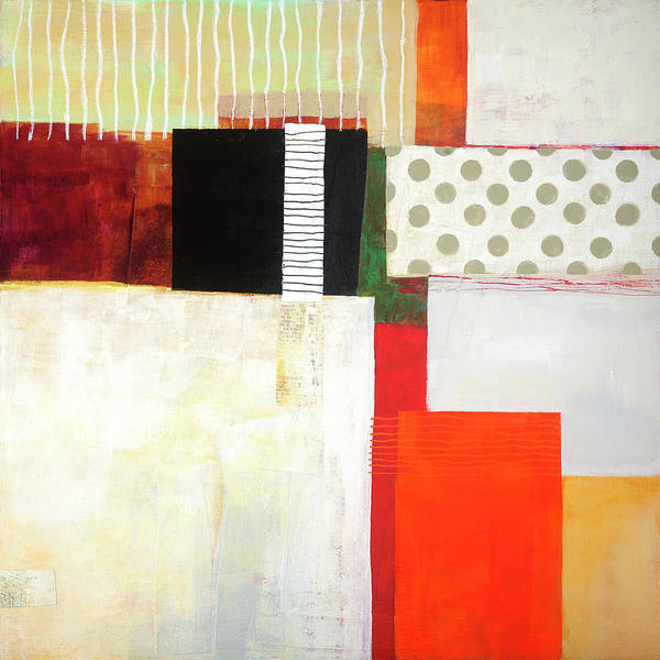 Acrylic Collage Painting - Fair And Square by Jane Davies