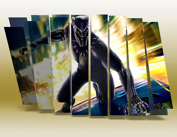 Black Panther Mixed Media - Black Panther Art by Marvin Blaine