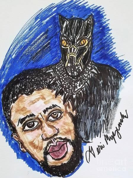 Black Panther Mixed Media - Black Panther Chadwick Boseman by Geraldine Myszenski