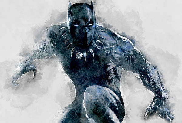Black Panther Mixed Media - Black Panther by Marvin Blaine