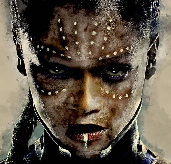 Black Panther Mixed Media - Black Panther Shuri by Marvin Blaine