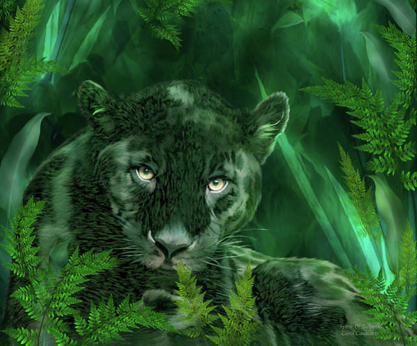 Wall Art - Mixed Media - Black Panther - Spirit Of Rebirth by Carol Cavalaris