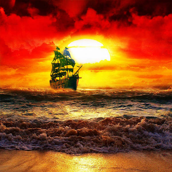 Pirates Of The Caribbean Digital Art - Black Pearl by Koko Priyanto