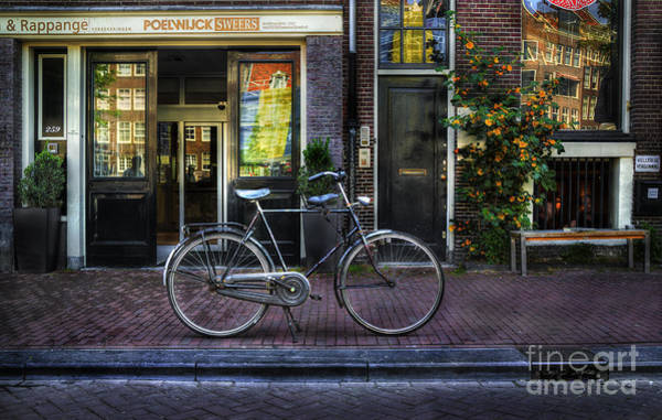 Photograph - Black Poelwijc Bike by Craig J Satterlee