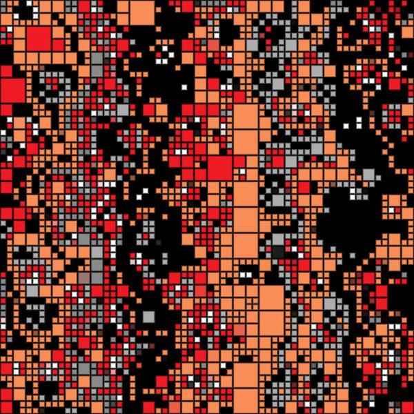 Digital Art - Black Red Grays Adaptive Tiling by Joy McKenzie