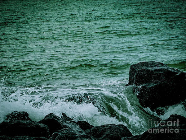 Photograph - Black Rocks Seascape by Camille Pascoe