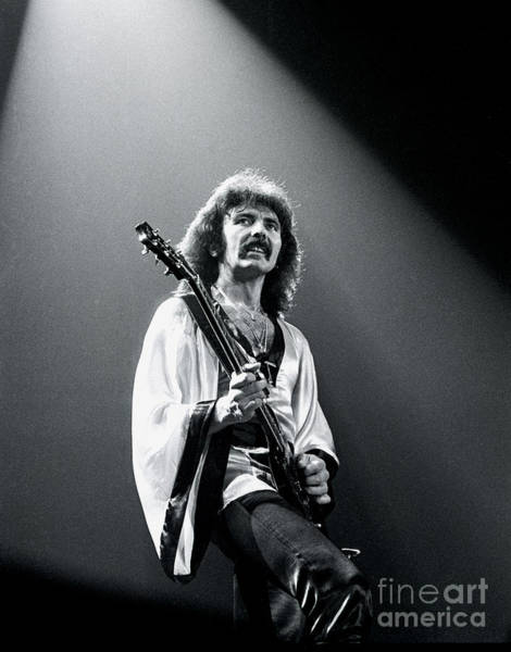 Chris Walter Wall Art - Photograph - Black Sabbath 1978 Tony Iommi by Chris Walter