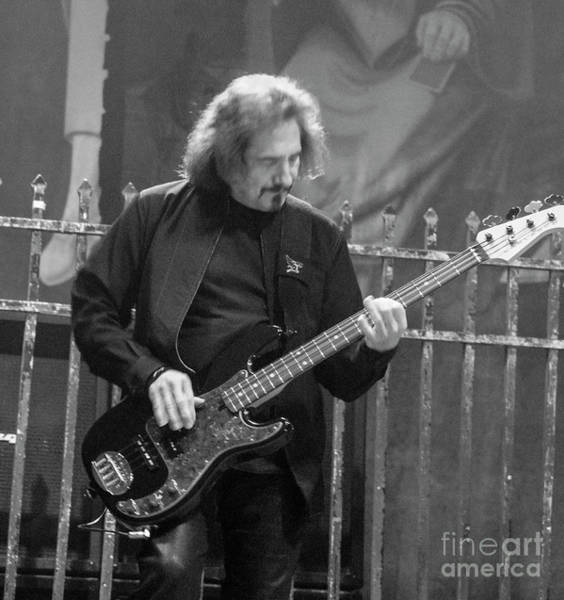 Photograph - Black Sabbath Geezer Butler by Jenny Potter