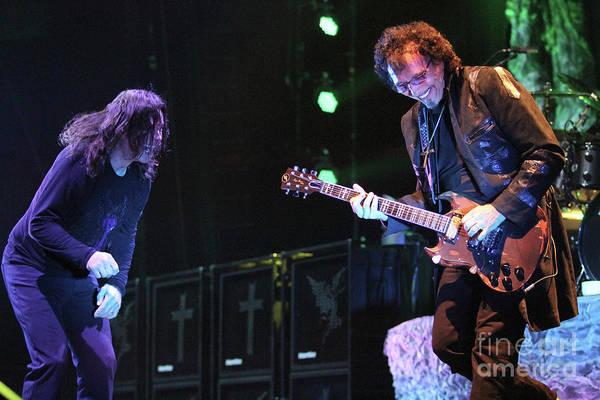Ozzy Osbourne Wall Art - Photograph - Black Sabbath Ozzy And Tony Iommi by Concert Photos