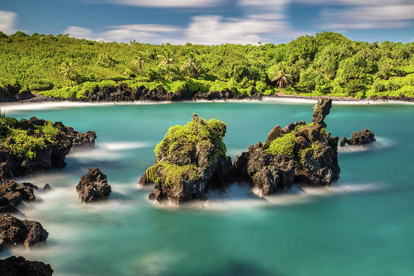 Photograph - Black Sand Beach At Waianapanapa State Park by Pierre Leclerc Photography
