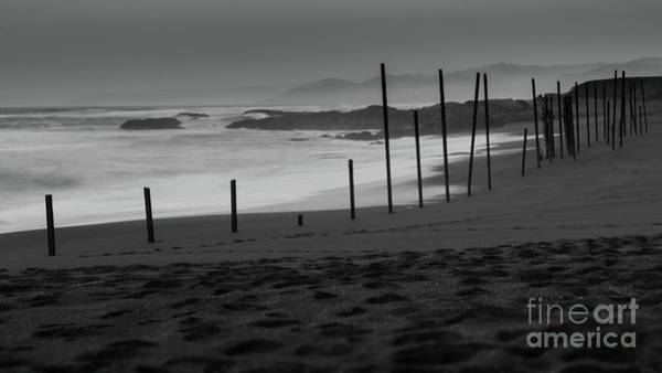 The Mac Wall Art - Photograph - Black Sand Monochrome by Along The Trail