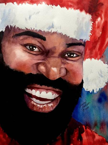 Painting - Black Santa by Michal Madison
