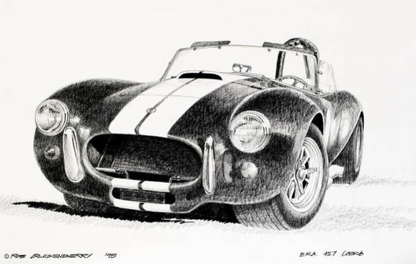 Cobra Drawing - Black Snake by Robert Quisenberry