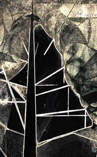 Tree Painting - Black by Roro Rop