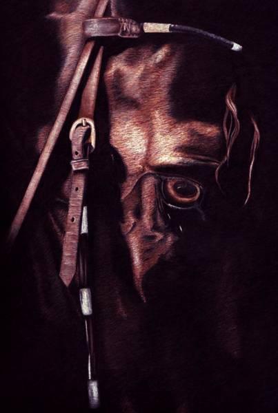 Friesian Drawing - Black Sterling II by Kristen Wesch