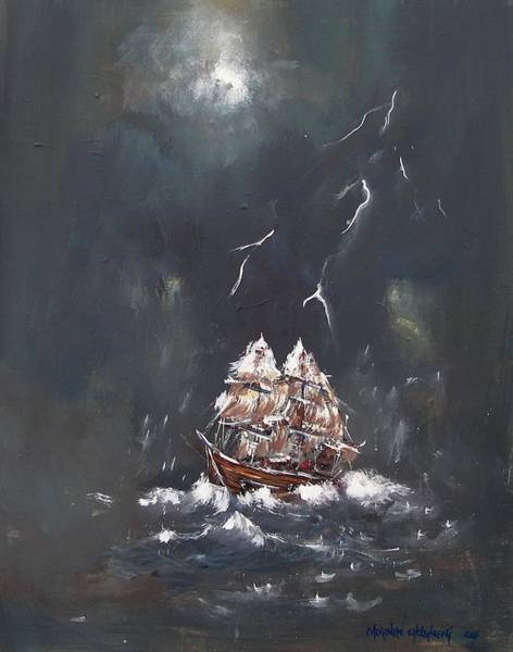 Painting - Black Storm by Miroslaw  Chelchowski