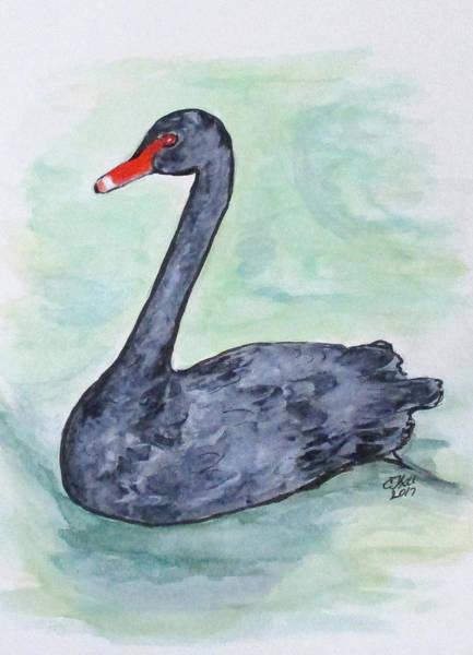 Painting - Black Swan by Clyde J Kell