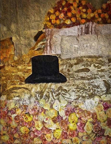 Painting - Black Top Hat by Joan Reese