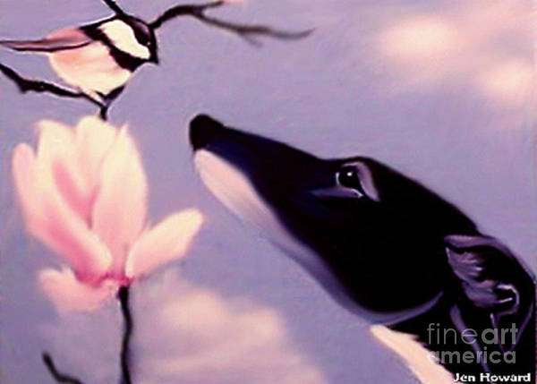Wall Art - Painting - Black Tux Chickadee by Jennifer Howard