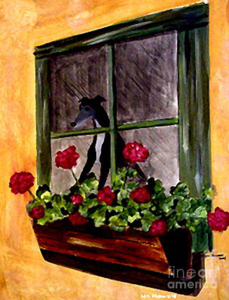Wall Art - Painting - Black Tux Window by Jennifer Howard