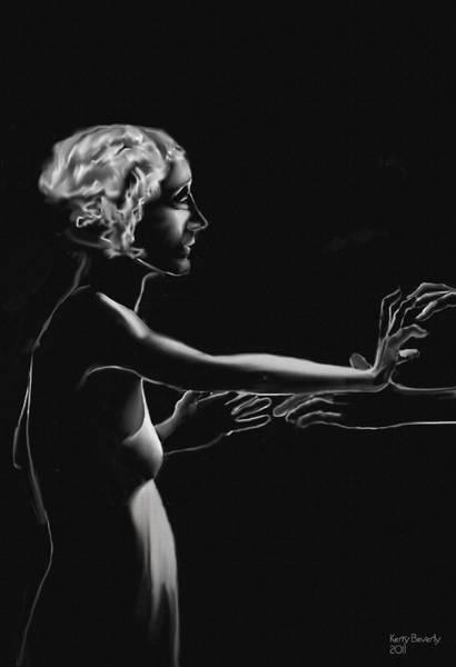 Digital Art - Black Velvet Dancers by Brandy Beverly