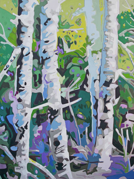 Painting - Black Water Forest by Rob Owen