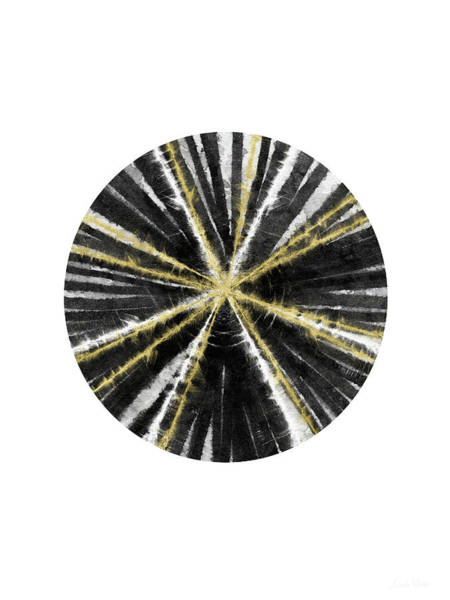Painting - Black, White And Gold Ball- Art By Linda Woods by Linda Woods