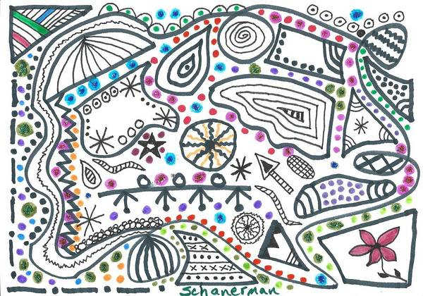 Drawing - Black White And More by Susan Schanerman