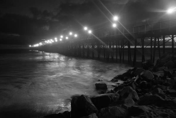 Wall Art - Photograph - Black White Pier by Kelly Wade