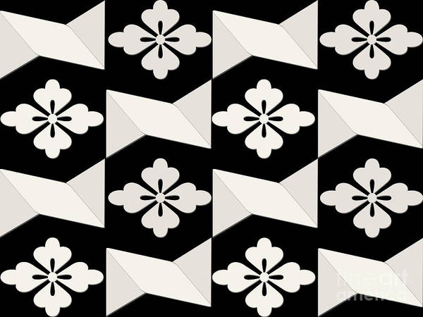 Photograph - Black White Tiles by Rockin Docks Deluxephotos