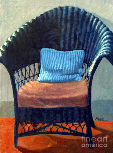 Wicker Wall Art - Painting - Black Wicker Chair by Donald Maier
