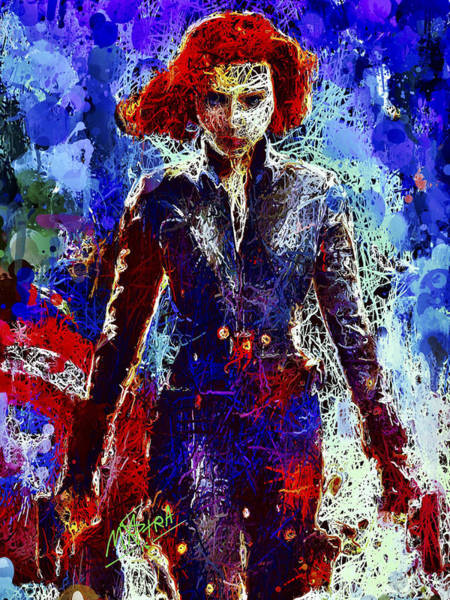 Mixed Media - Black Widow by Al Matra